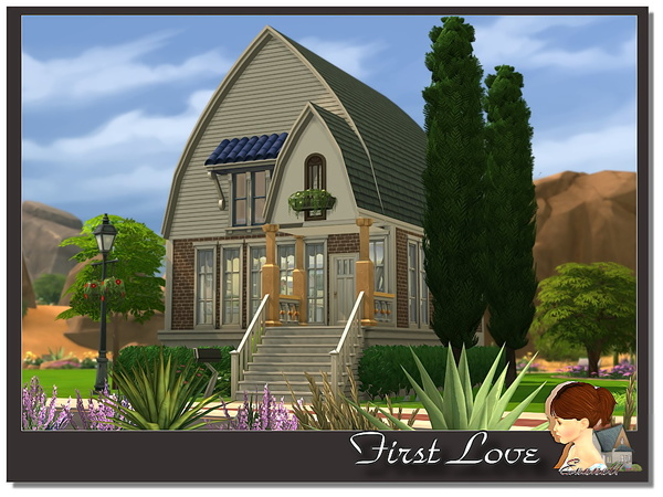Sims 4 First Love house by Evanell at The Sims Resource