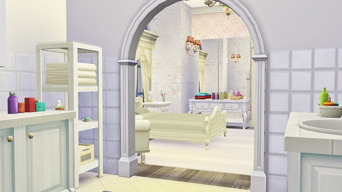 Felicity Guest Bed and Bath at Simkea image 6418 Sims 4 Updates