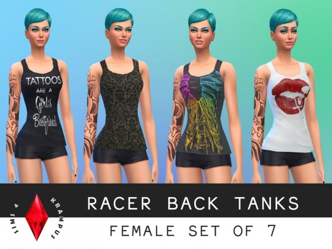 7 racer back tank tops at Sims 4 Krampus image 6432 Sims 4 Updates