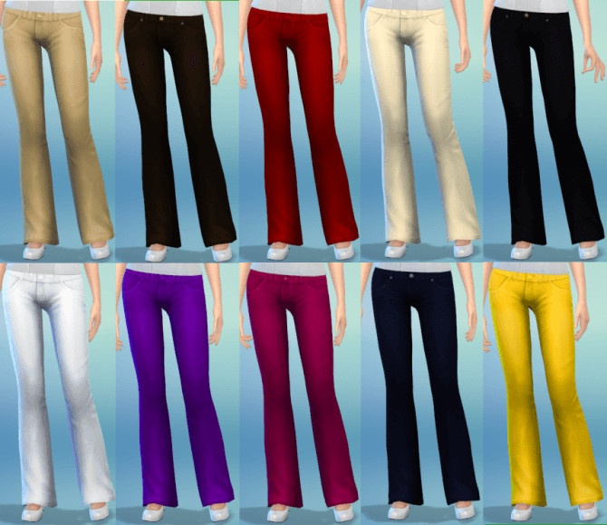 10 Bootcut Jeans Recolors at The Simsperience image 65 1 Sims 4 Updates