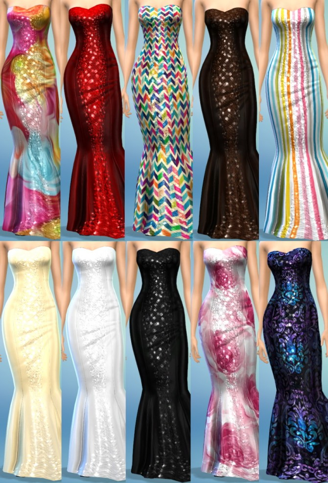 10 Concerto Dress Recolors at The Simsperience image 6513 Sims 4 Updates