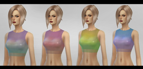 Sims 4 Degrade Top at Simaniacos