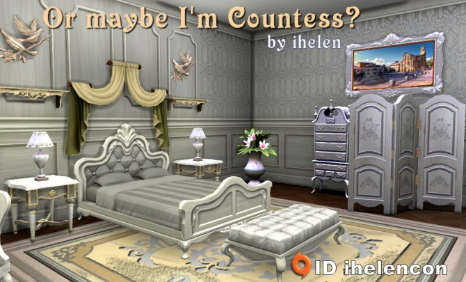 Sims 4 Bedroom Or maybe Im Countess by ihelen at ihelensims