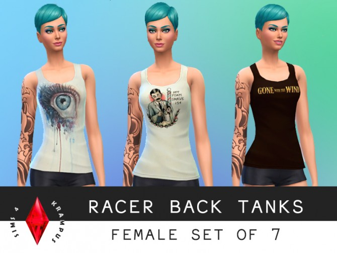7 racer back tank tops at Sims 4 Krampus image 6531 Sims 4 Updates