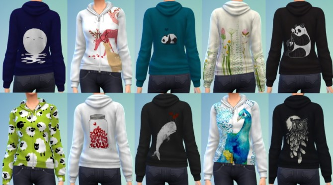 10 Zipped Hoodie Recolors at The Simsperience image 656 Sims 4 Updates