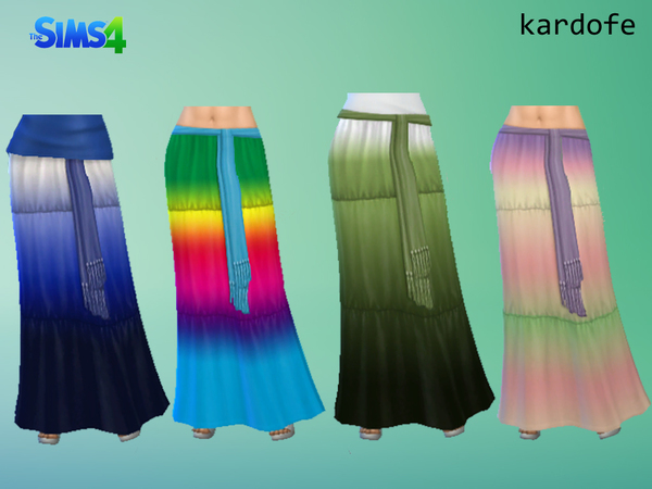Sims 4 Maxi Skirt recolor by kardofe at The Sims Resource