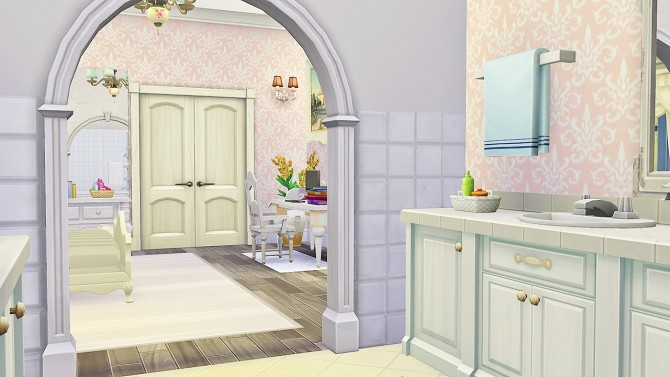 Felicity Guest Bed and Bath at Simkea image 6618 Sims 4 Updates