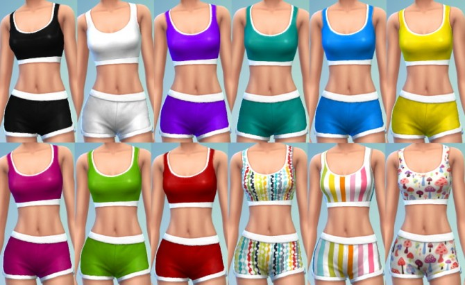 Sports bra and shorts tumblr