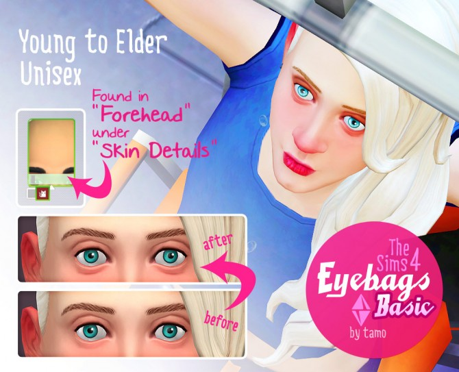 Basic Eyebags at Tamo image 6634 Sims 4 Updates