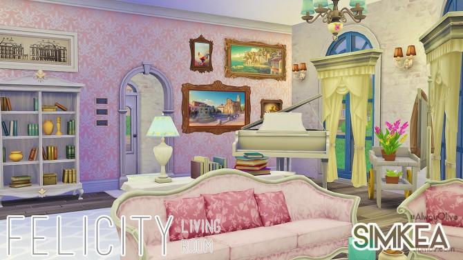 Felicity Living Room at Simkea image 6718 Sims 4 Updates