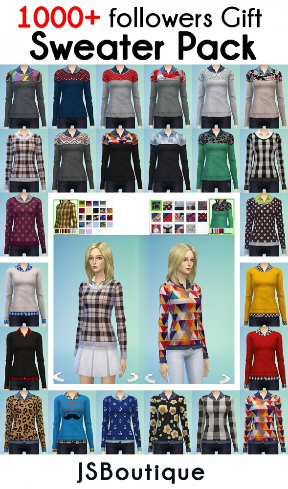 Sims 4 10 Recolors + one mesh with 14 colors at JSBoutique