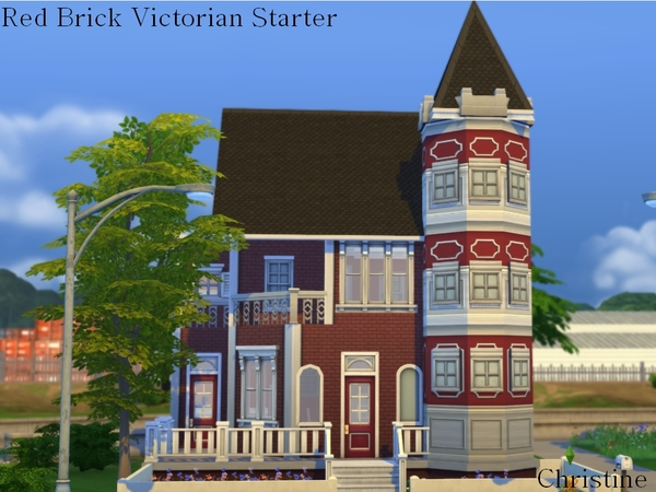 Red Brick Victorian Starter Home by cm 11778 at The Sims Resource image 673 Sims 4 Updates