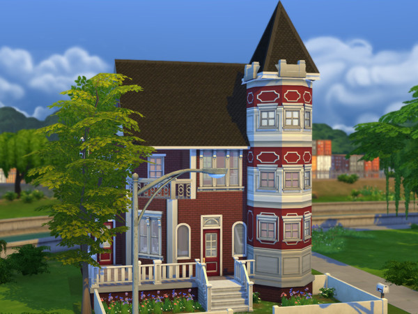 Red Brick Victorian Starter Home by cm 11778 at The Sims Resource image 683 Sims 4 Updates