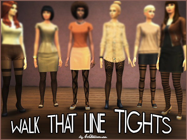 Walk that Line Tights by Waterwoman at Akisima image 6830 Sims 4 Updates