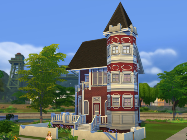 Red Brick Victorian Starter Home by cm 11778 at The Sims Resource image 693 Sims 4 Updates