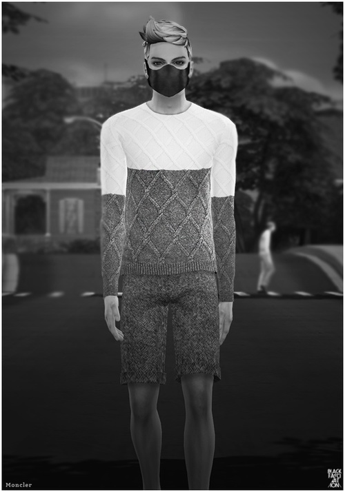 S4 BLACK Sweater at Black le image 7036 Sims 4 Updates