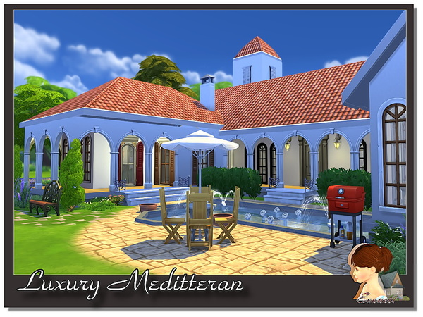 Luxury Meditterane house by Evanell at The Sims Resource image 7102 Sims 4 Updates