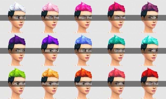 Sims 4 15 brighter custom hair colours part 2 at SqquareSims