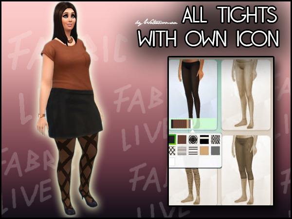Walk that Line Tights by Waterwoman at Akisima image 7153 Sims 4 Updates