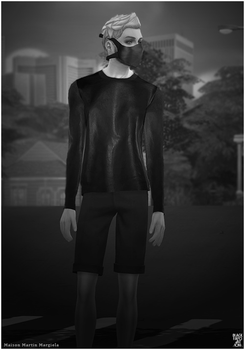 S4 BLACK Sweater at Black le image 7160 Sims 4 Updates