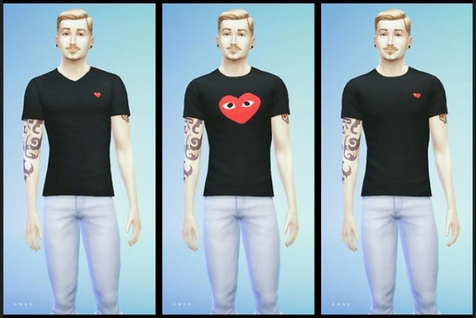 Sims 4 COMME DES GARÇONS SHIRTS at Alachie & Brick Sims