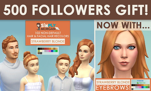 Strawberry Blonde Eyebrows at Simply Morgan image 7321 Sims 4 Updates