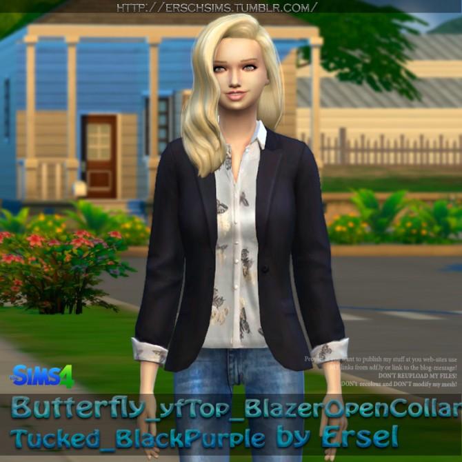 Sims 4 Butterfly Blazer by Ersel at ErSch Sims