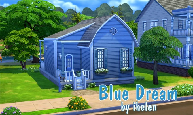 Blue Dream house by ihelen at ihelensims image 7416 Sims 4 Updates