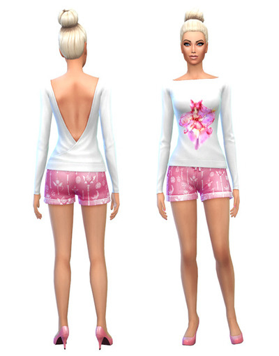 Sims 4 Sailor Moon dress, Pj set, tights and 2 x stocking at Simlust