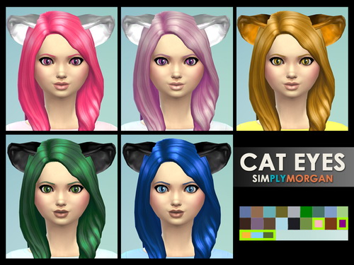 Cat Eyes 5 Non Default Colors at Simply Morgan image 7421 Sims 4 Updates