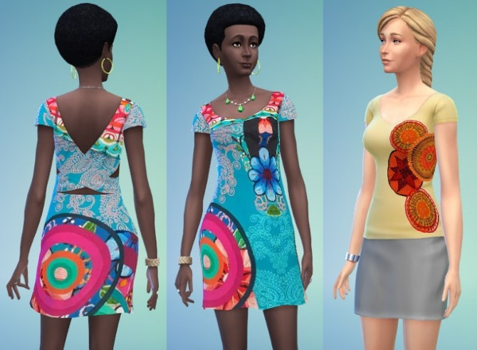 Sims 4 DESIGUAL COLLECTION 9 clothes by Bloup at Sims Artists