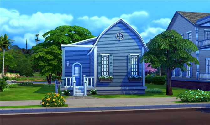 Blue Dream house by ihelen at ihelensims image 7512 Sims 4 Updates