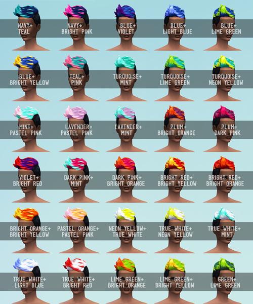 Sims 4 Multicoloured set 120 recolors at SqquareSims