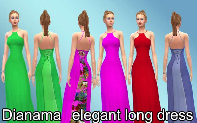Elegant long dress at Saratella's Place image 7624 Sims 4 Updates