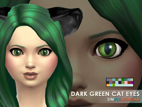 Cat Eyes 5 Non Default Colors at Simply Morgan image 7818 Sims 4 Updates