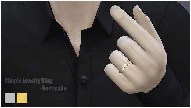 Sims 4 Simple ring rectangle at Rusty Nail