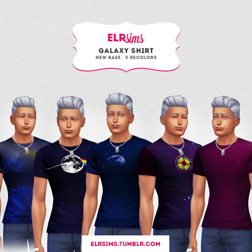 GALAXY SHIRTS 5 colors at ELRsims image 7913 Sims 4 Updates