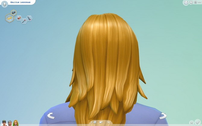 Sims 4 Long Rocker Hair for males by Sydria at Mod The Sims