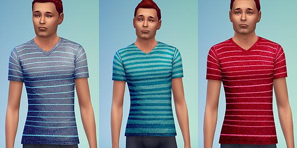 Sims 4 V Neck shirts for males at Ecoast