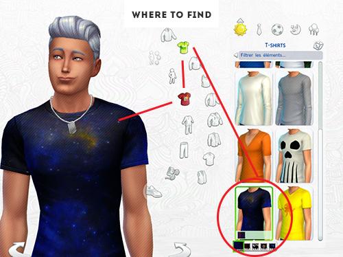 GALAXY SHIRTS 5 colors at ELRsims image 8013 Sims 4 Updates