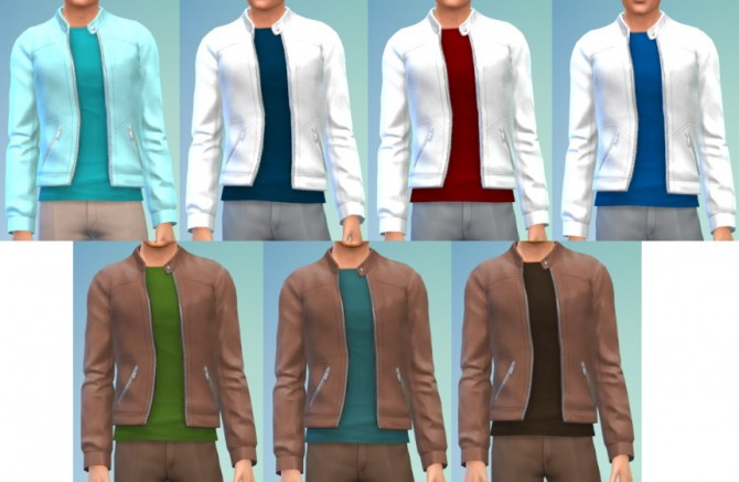 7 Leather Jacket/Tee at The Simsperience image 8016 Sims 4 Updates