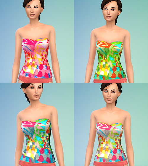 Summer top at Ecoast image 803 Sims 4 Updates