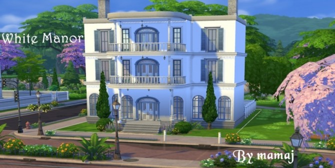 White Manor by Mamaj at Simtech Sims4 image 807 Sims 4 Updates