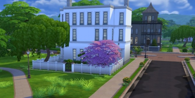 Sims 4 White Manor by Mamaj at Simtech Sims4