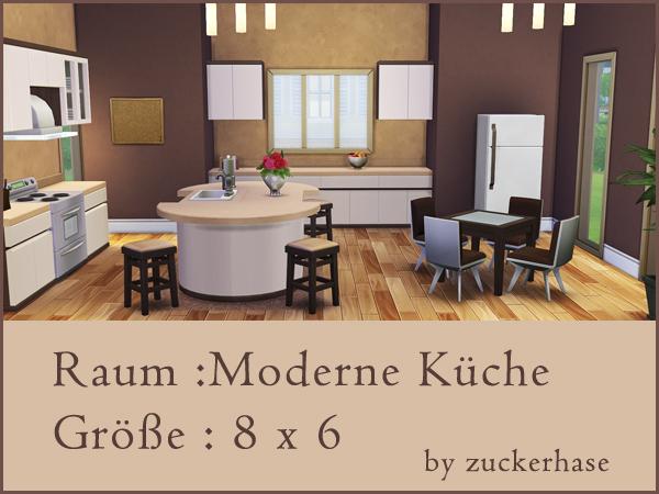 Sims 4 Modern kitchen by zuckerhase at Akisima