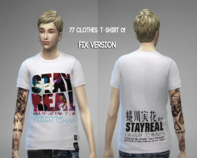 77clothes  T shirt 01 (Fixed) at The77Sims3 image 8212 Sims 4 Updates