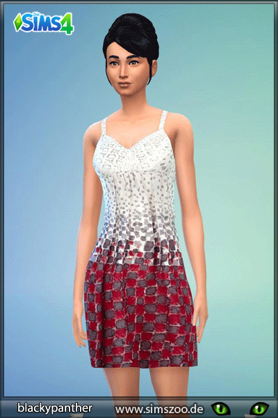 Alltags dress 1 by Blackypanther at Blacky's Sims Zoo image 8229 Sims 4 Updates