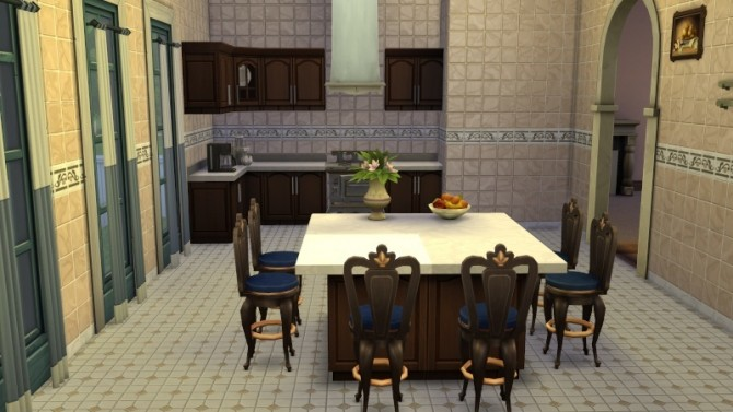 Sims 4 White Manor by Mamaj at Simtech Sims4