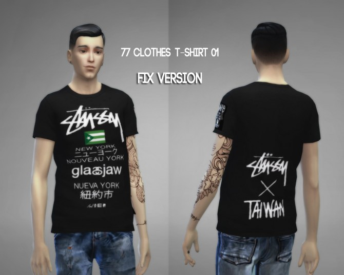77clothes  T shirt 01 (Fixed) at The77Sims3 image 8311 Sims 4 Updates