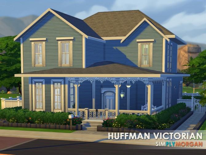 Sims 4 Huffman Victorian house at Simply Morgan